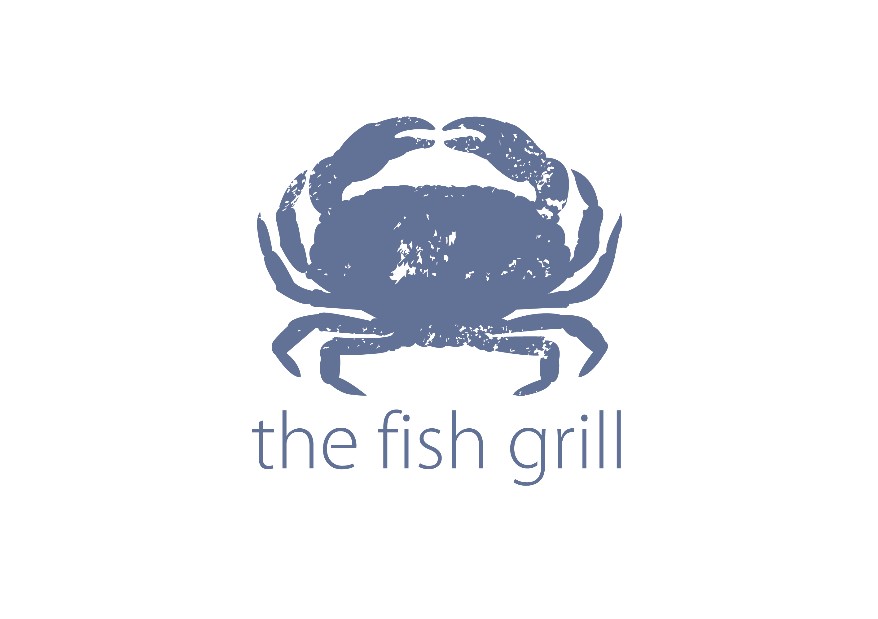 The fish grill visual identity lacon design for The fish grill