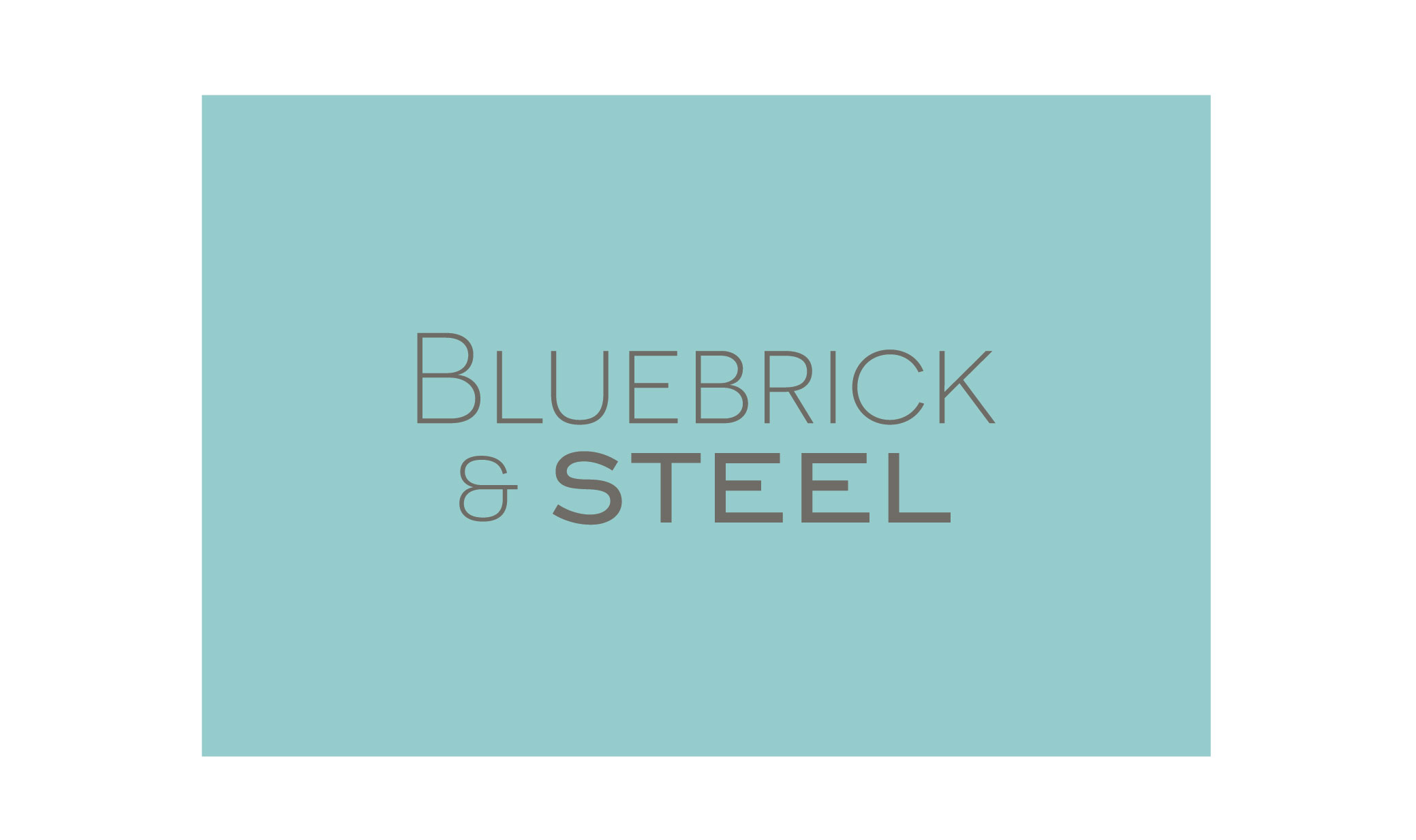 Brand Identity and website design: Bluebrick & Steel Ltd