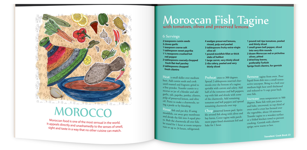 recipe illustration and layout lacon design