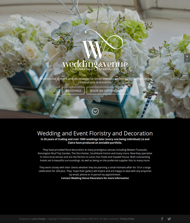 Brand Identity Refresh And Website Design Wedding Venue Decorators