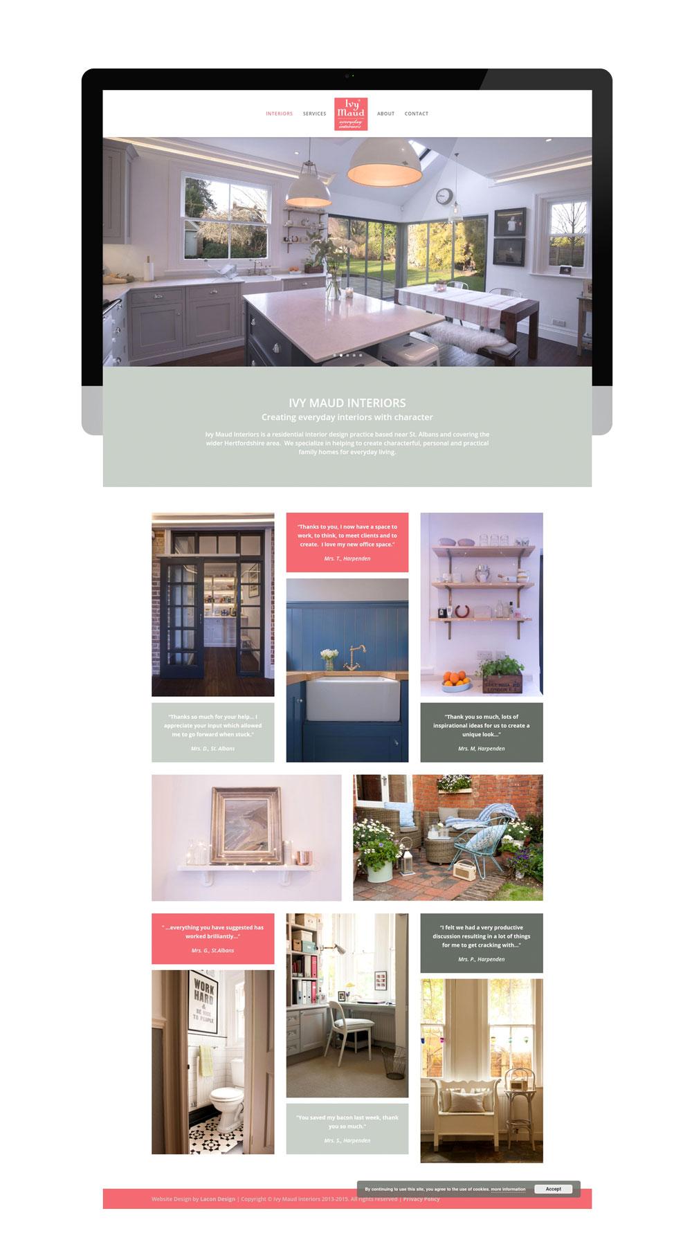 Ivy Maud Interiors Website Design