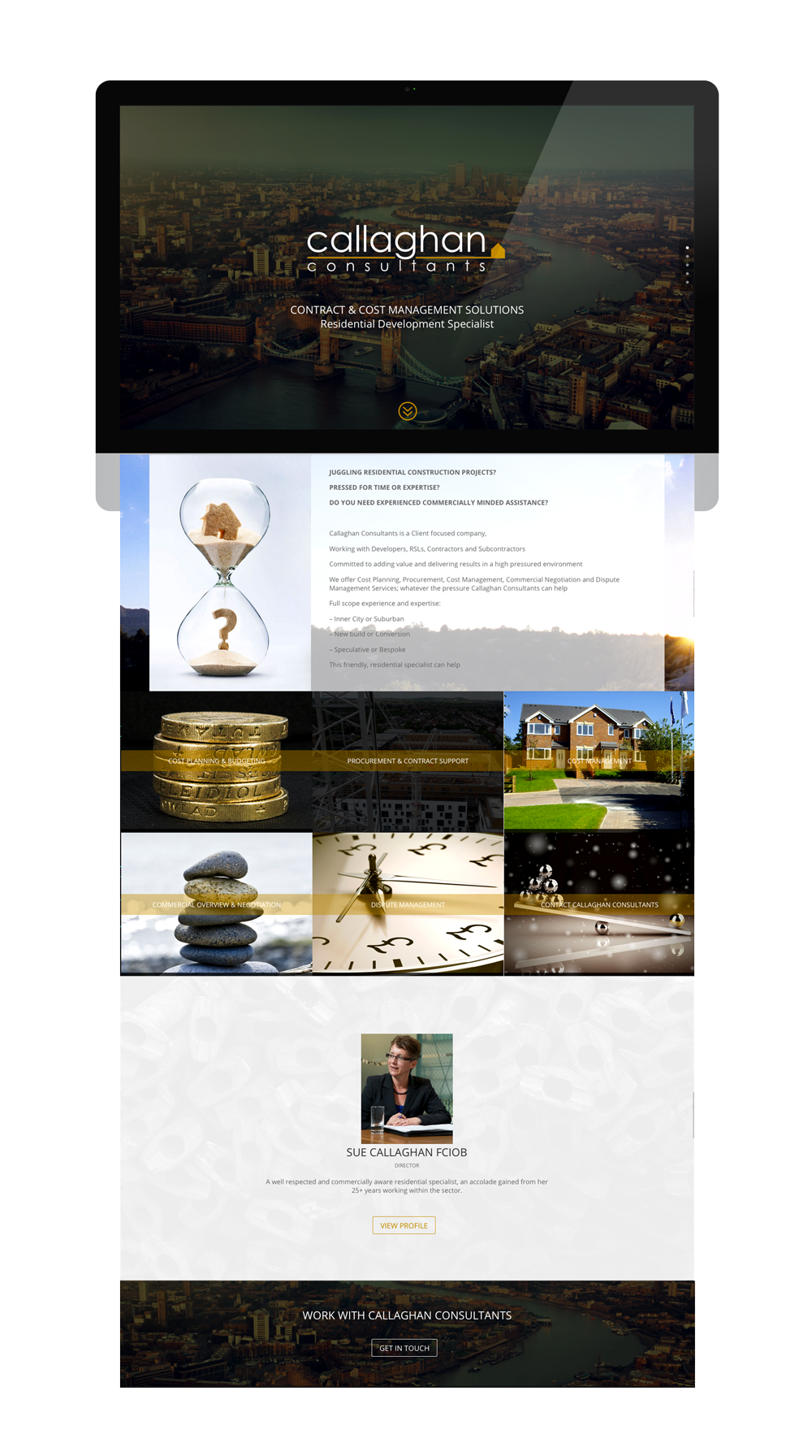 Callaghan Consultants Website Design