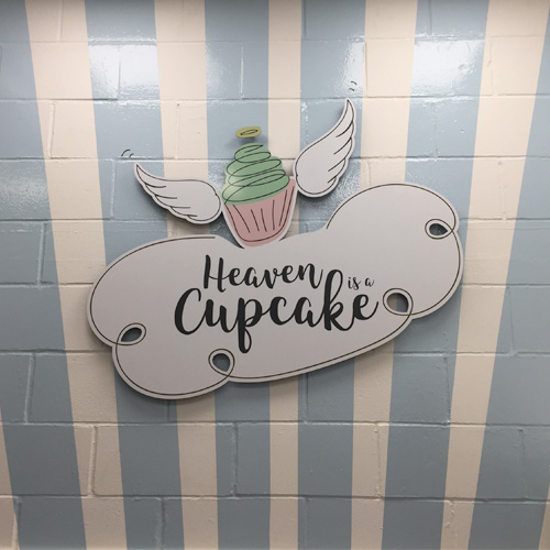 Heaven is a cupcake sign
